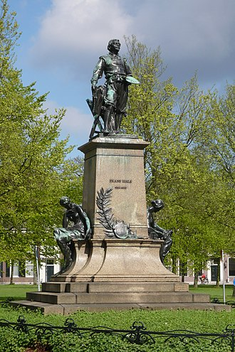 Frans Hals - Statue of Frans Hals in Florapark, Haarlem