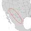 Fraxinus cuspidata range map 2.png
