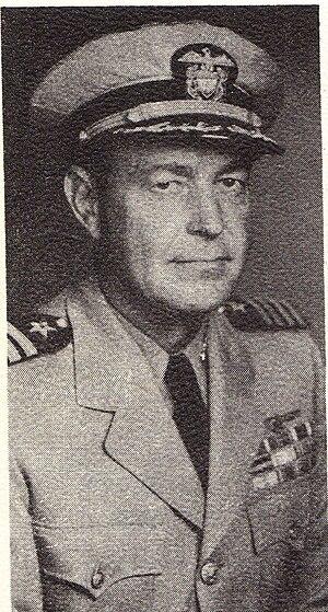 Frederick M. Trapnell - CPT Frederick Trapnell as CO, USS Coral Sea (CV-43)