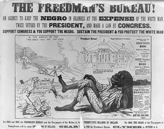 Institutional racism - Ad protesting black reconstruction.