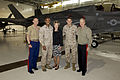 From left, the 17th Sergeant Major of the Marine Corps, Sgt. Maj. Micheal P. Barrett; Sgt. Maj. Stocks; First Lady of the Marine Corps Bonnie Amos; Lt. Col. David R. Berke; and the 35th Commandant of the Marine 130504-M-LU710-216.jpg