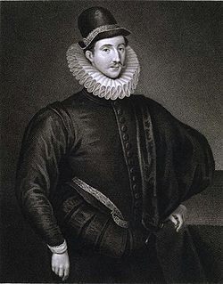Edmund Lodge: Portrait of Sir Fulke Greville, 1st Baron Brooke (1554-1628). English poet and courtier.