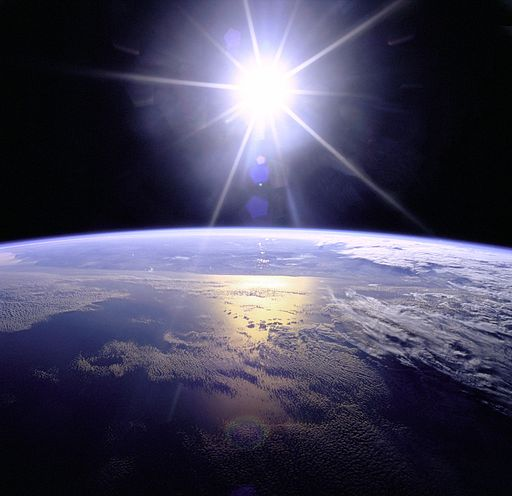 Full Sunburst over Earth