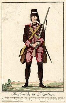Fusiliers de La Morlière - Fantassin XVIIIe siècle