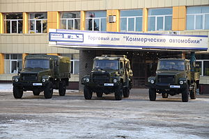 GAZ Sadko - The basic Sadko family, left to right, GAZ-33088 Sadko, GAZ-330811 Vepr and GAZ-33081 Eger