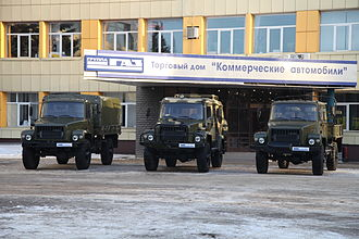 GAZ Sadko - The basic Sadko family, left to right, GAZ-33088 Sadko, GAZ-330811 Vepr and GAZ-33081 Eger