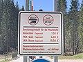 GER — BY — Landkreis Garmisch-Partenkirchen — Gemeinde Krün — Ortsteil Klais (Preistafel Maut) 2020.jpg