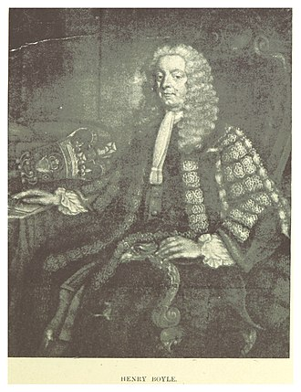 Irish House of Commons - Henry Boyle, speaker between 1733–1756