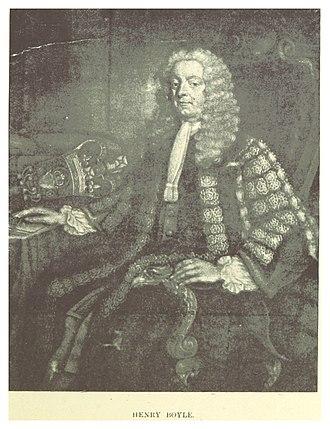 Irish House of Commons - Henry Boyle, speaker between 1733–1756