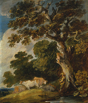 Gainsborough Dupont - Gainsborough Dupont - A Wooded Landscape with Cattle and Herdsman
