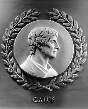 Gaius (jurist) - Bas-relief of Gaius from the chamber of the U.S. House of Representatives.