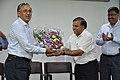 Ganga Singh Rautela Receives Flower Bouquet From Anil Shrikrishna Manekar - NCSM - Kolkata 2016-02-29 1650.JPG
