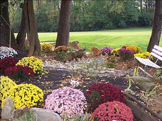 Penn State Golf Courses - A scenic garden on the Blue Course