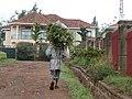Gardener after work.Kigali.jpg