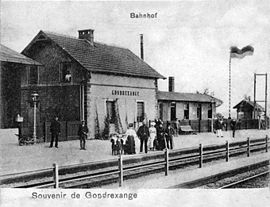 The railway station in Gondrexange