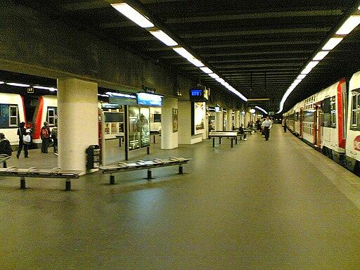 Gare de Neuillly Porte Maillot quais