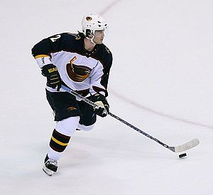 Garnet Exelby - Exelby in 2007 with the Thrashers