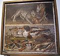 Gatto che azzanna pollo, anatre, pesci, uccelli e conchiglie, da casa del fauno a pompei, 9994, 02.JPG