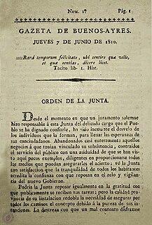 <i>Gazeta de Buenos Ayres</i> Former newspaper in Buenos Aires, Argentina