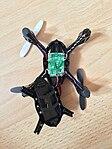 Geöffneter Quadrocopter Hubsan x4 h107c.jpg