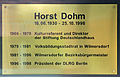Gedenktafel Fritz-Wildung-Str 9 (Schma) Horst Dohm.jpg