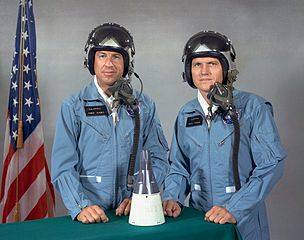 James A. Lovell, Jr (left) and Frank F. Borman - Gemini VII