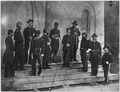 Gen. Samuel P. Heintzelman and staff (unrecognized. Taken on the steps of Arlington House.) - NARA - 528570.tif