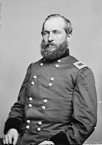Garfield as a brigadier general during the Civil War General James Garfield - Brady-Handy.jpg