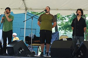 Celtic music in Canada - Genticorum, a traditional and Celtic band performing at a  Solstice Festival, 18 June 2011