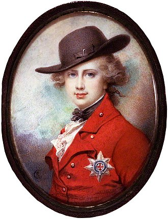 George IV of the United Kingdom - Portrait miniature by Richard Cosway, c. 1780–82