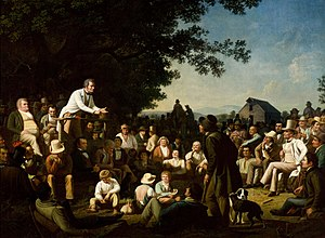 Stump speech (politics) - Stump Speaking (1853-54), George Caleb Bingham