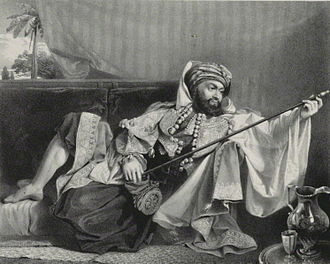 George Francis Lyon - Captain G. F. Lyon, in his Tripoline costume (printed by Charles Joseph Hullmandel).