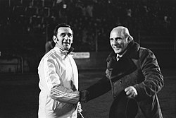 George Knobel and Fulvio Bernardini, 1974.jpg
