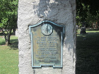 George Wythe - George Wythe gravestone at St. John's Episcopal Church in Richmond, Virginia