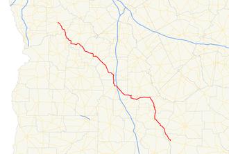 Georgia State Route 90 - Image: Georgia state route 90 map