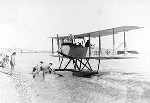 German Friedrichshafen FF.33L seaplane at Beirut c1917.jpg
