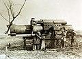 German gun captured at Dannevoux, 106th Regiment Field Artillery, 33rd Division, Meuse, France, 1918 (33471549722).jpg
