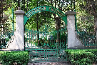 German Mexicans - Entrance to the German section of the Panteón de Dolores in Mexico City