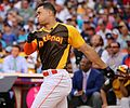Giancarlo Stanton competes in semis of '16 T-Mobile -HRDerby. (28496633521).jpg