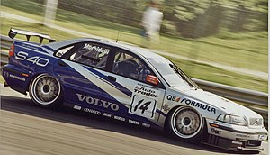 Gianni Morbidelli - Morbidelli driving for Volvo in the 1998 British Touring Car Championship.