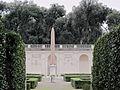 Giardini di villa medici, piazzale, fontana con copia obelisco di boboli (un tempo qui) 3.JPG