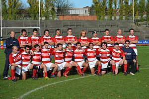 Rugby union in Gibraltar - Image: Gibraltar Rugby Football Union (GRFU) National 15s Squad 2012 v Belgium B