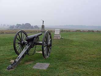Alonzo Cushing - Cushing's battery at Gettysburg (2002)