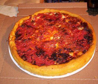 Chicago-style pizza - Image: Ginoseastdeepdish