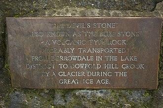 Crook, County Durham - The Devil Stone's Plaque