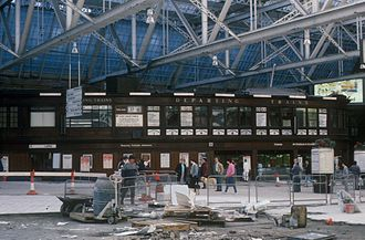 Glasgow Central station - The Caledonian Railway destination board still in use during the 1985 refurbishment