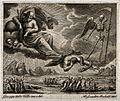 God, aided by an angel, a serpent and Death, inflicts calami Wellcome V0034267.jpg
