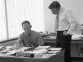Gordon Moore with Robert Noyce at Intel in 1970.png