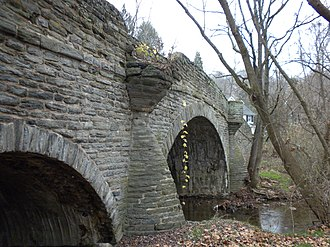 Darby Creek (Pennsylvania) - A bridge over Darby Creek in Radnor Township