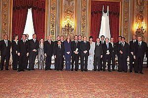 Berlusconi IV Cabinet - Berlusconi's government during the oath.